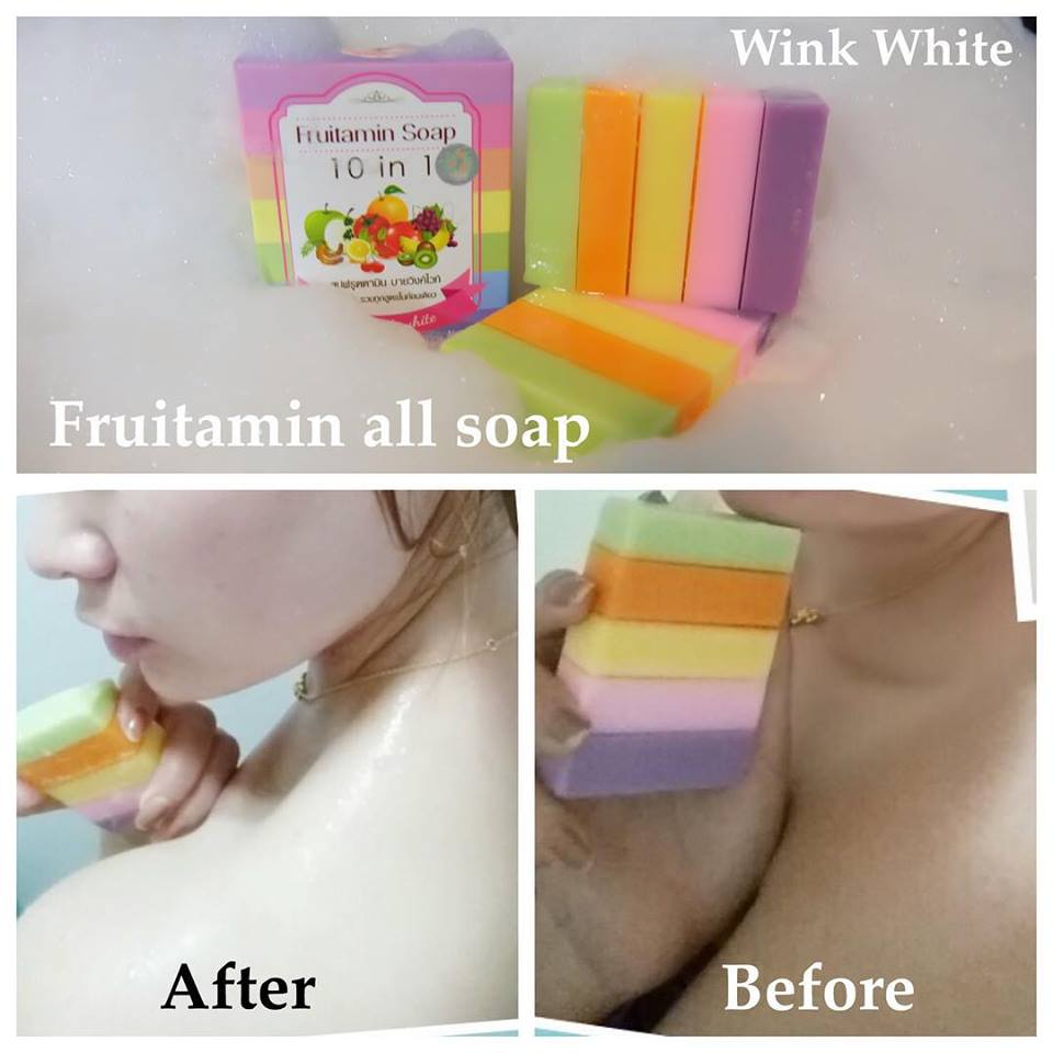 Wink White Fruitamin Soap 10 In 1 Konsuayshopping 100