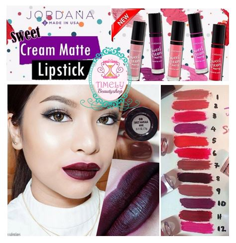 Jordana Sweet Cream Matte Liquid Lip Color 08 Sweet Marsala Wine สีแดงก่ำเข้ม คล้าย