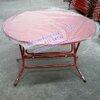 โต๊ะกลมจีนหน้าเหล็ก -ขาไคว้ Code : 015-SRT46
