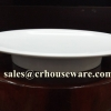 จานออเดอฟ 13.5 นิ้ว 017-P160-13.5,จานผักขอบยกสูงไซส์13.5นิ้ว,จานผักชุดใหญ่MKเมลามีนขาว