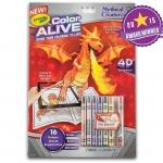 Crayola Color Alive - Mythical Creatures สมุดระบายสีพร้อมสีเทียน ชุดมังกร 4 มิติ