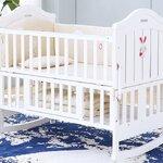 เตียงนอนเด็กไม้สีขาว รุ่นMulti funcition TP21035 (WD1)