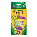 Crayola Colored Pencils Write Start สีไม้สำหรับเด็กเล็กเพิ่งเริ่มหัดเขียน 8แท่ง แท่งและไส้ใหญ่พิเศษ เหมาะมือ