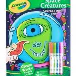 Crayola Space Creatures Coloring & Sticker Book สมุดระบายสี พร้อมสีเมจิก และสติกเกอร์