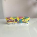 Play Doh แป้งโดว์เซต 4 กระปุก 4 สี (ม่วง เขียว ชมพู ฟ้า) สำหรับน้องอายุ 2 ขวบขึ้นไป