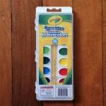 Crayola Pan Washable Colorwater สีน้ำ 16 สี พร้อมพู่กันในถาดมีฝาปิดเก็บได้