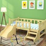 TP21007 (WDK7S) เตียงนอนไม้ เตียงเดี่ยวสำหรับเด็ก แบบมีสไลด์เดอร์
