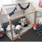 TP21031(WHK1) เตียงนอนไม้ โครงบ้าน