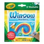 Crayola Window FX Washable Markers สีเขียนกระจก ล้างออกได้ ปลอดสารพิษ สำหรับเด็ก 3 ขวบขึ้นไป