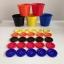 แก้วฝึกแยกสี เซตแก้ว 5 สี (คละสีเลือกไม่ได้) พร้อมกระดุมจัมโบ้ขนาด 5 cm. 25 เม็ด thumbnail 1