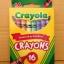 Crayola Crayons สีเทียนแท่งเล็ก กล่องละ 16 แท่ง ปลอดสารพิษ เหมาะสำหรับเด็ก thumbnail 1