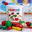 ของเล่นไม้ ชุดหั่นผักและผลไม้ มาพร้อมถัง เก็บง่าย thumbnail 1