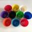 แก้วฝึกแยกสี เซตแก้ว 5 สี (คละสีเลือกไม่ได้) พร้อมกระดุมจัมโบ้ขนาด 5 cm. 25 เม็ด thumbnail 6