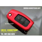 ABS CASE FOR FORD [รุ่นกุญแจพับ] สีแดง
