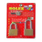 SOLEX KEY ALIKED กุญแจทองเหลืองแท้ ขนาด 45 มม.ห่วงสั้นและยาว