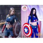 Super Premium Set: ชุดพรีเมียม กัปตันอเมริกาหญิง - Captain America Girl