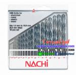 NACHI M-05 ดอกสว่านไฮสปีด เจาะเหล็ก ก้านตรง นาชิ 19ดอกในชุด (1.0-10.0มม.) จากญี่ปุ่น