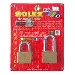 SOLEX KEY ALIKED กุญแจทองเหลืองแท้ ขนาด 40 มม.ห่วงสั้นและยาว