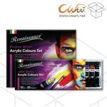 ชุดสีอะคริลิคRenaissance 24สี, 12ml ( ยกกล่อง 12ชุด )