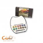 ชุดสีน้ำRembrandt Luxury Pocket Box Half 12สีพร้อมพู่กัน (Rembrandt Watercolour Luxury Pocket Box)