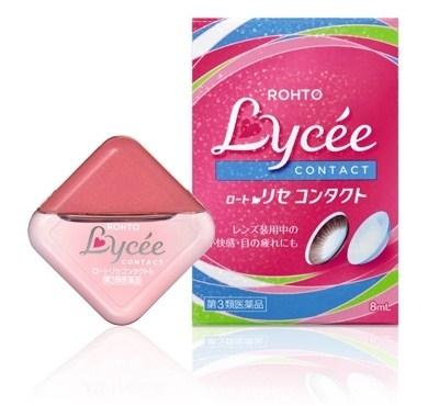Rohto Lycee Eye Drops for Contact Lens น้ำยาหยอดตาผสมวิตามิน สำหรับผู้สวมใส่คอนแทคเลนส์สี (Contact Lens Colour) บิ๊กอาย (Big eyes) โดยเฉพาะ ความเย็นระดับ 3 สูตรพิเศษ จากญี่ปุ่น เพื่อดวงตาที่เหนื่อยล้า สายตาทำงานหนัก คันตา และตาที่ระคายเคืองจนมีสีแดง พร้อม