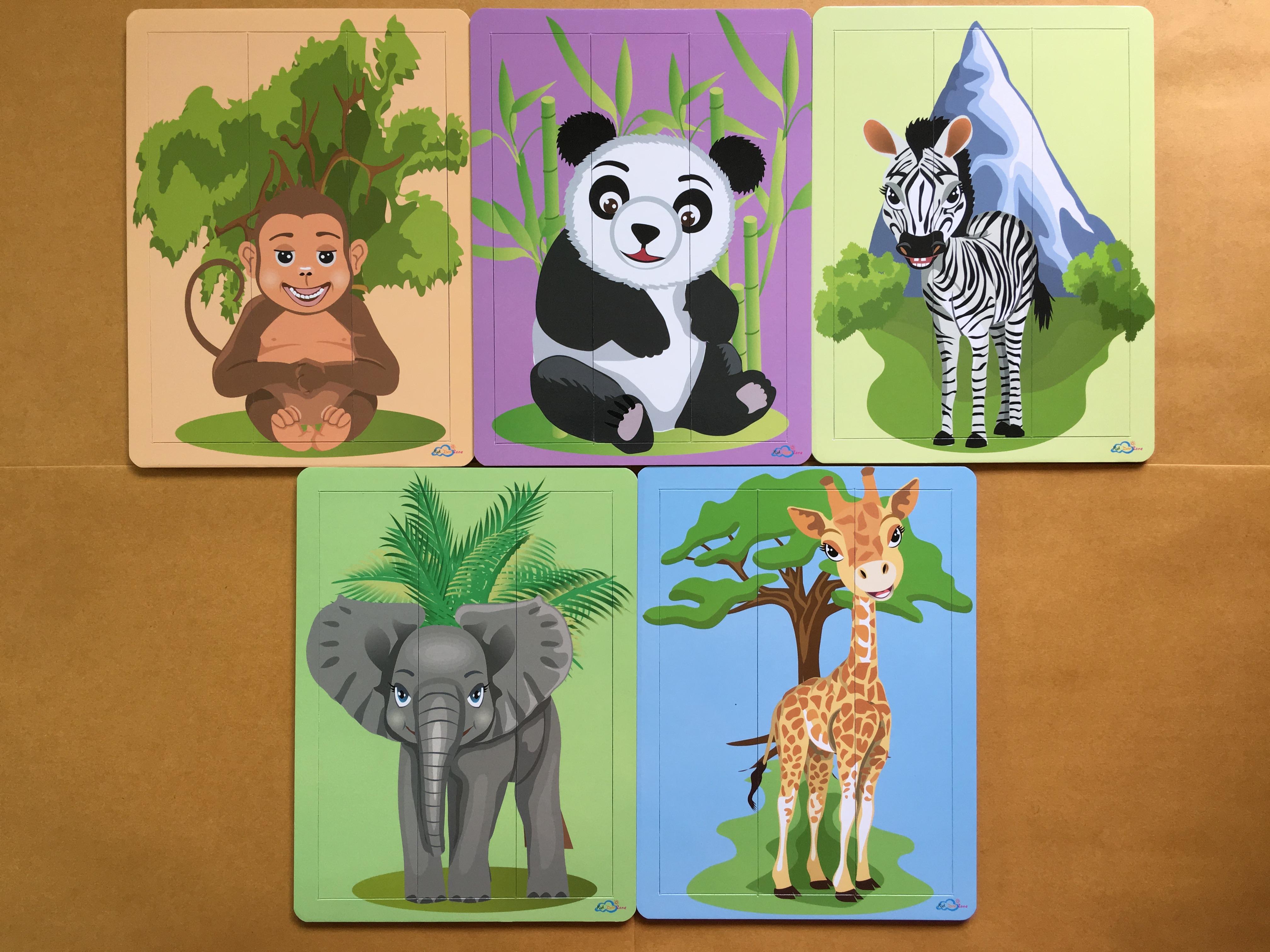 จิ๊กซอว์ ชุด สัตว์ป่า (เหมาะกับเด็ก 1-4ปี)