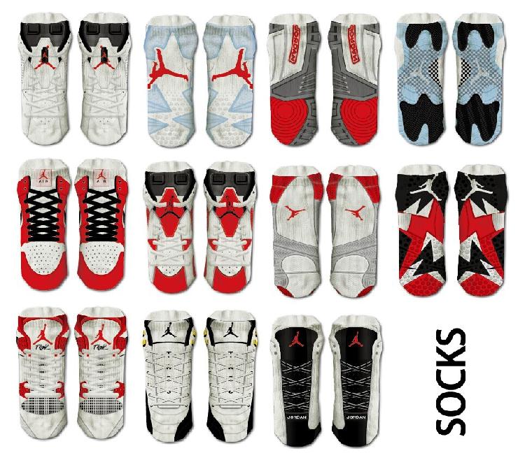 ถุงเท้าลายรองเท้า air jordan