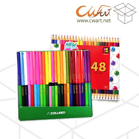 สีไม้Colleen2หัว 48สี/24แท่ง ยกกล่อง 6ชุด