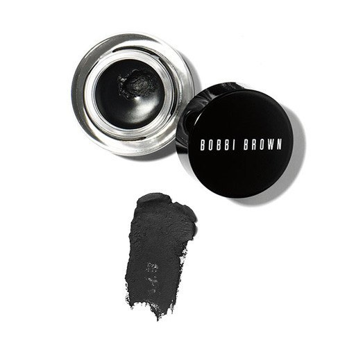 Bobbi Brown Long-Wear Gel Eyeliner 3g. #1 Black Ink สีดำ อายไลเนอร์ที่ได้รับรางวัลรุ่นนี้เขียนขอบตาได้เฉียบคมด้วยสูตรเจล ติดทนนาน กันน้ำ สีสันชัดเจนแม้เขียนเพียงรอบเดียว แห้งในเวลาที่พอเหมาะไม่ช้าหรือเร็วเกินไป ติดทนนานโดยไม่ซึมเลอะลงมาใต้ตา