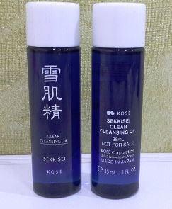 Kose Sekkisei Clear Cleansing Oil ขนาดทดลอง 35ml. ออยล์ทำความสะอาดเครื่องสำอางที่ช่วยชำระคราบเมลานินบนชั้นผิวและสิ่งสกปรกที่อุด ตันในรูขุมขนได้อย่างดี ด้วยสารประกอบที่มีคุณสมบัติช่วยชำระล้างเครื่องสะอาดได้อย่างล้ำลึก