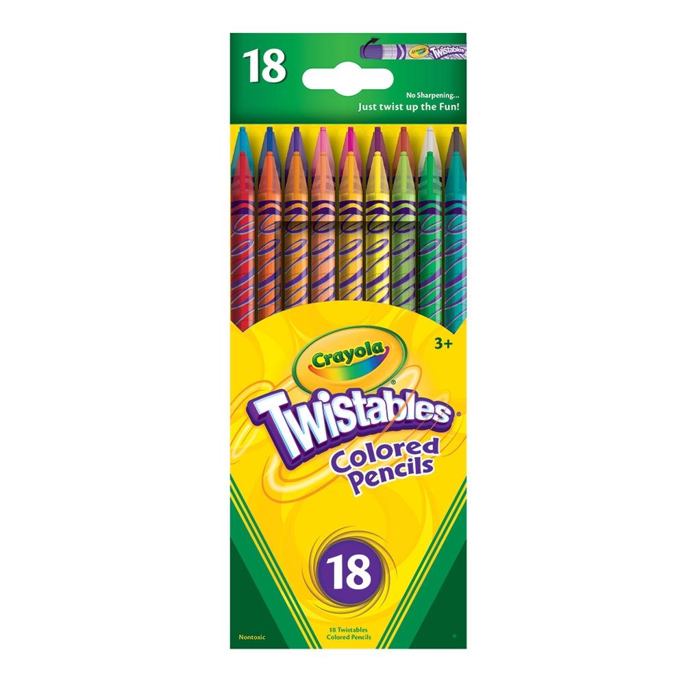Crayola Twistables Colored Pencils สีไม้หมุนได้ 18 สี สะดวกสบายไม่ต้องเหลา สำหรับ 3 ขวบขึ้นไป