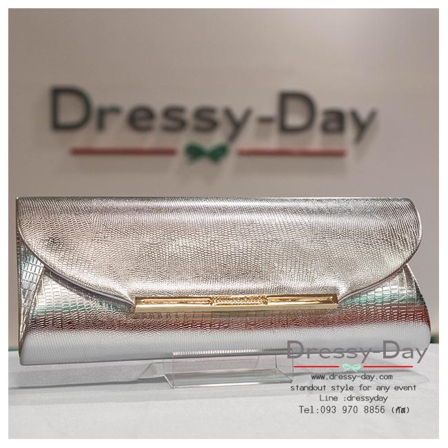 กระเป๋าออกงาน TE028: กระเป๋าออกงานพร้อมส่ง สีเงิน สวยหรูที่สุด ราคาถูกกว่าห้าง ถือออกงาน หรือ สะพายออกงาน สวย หรู ดูดีมากค่ะ