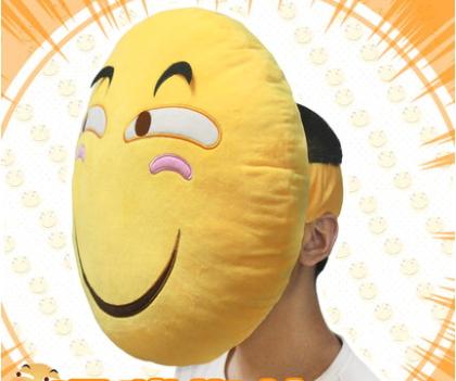 หมอนคาดศีรษะหน้ายิ้ม emoji