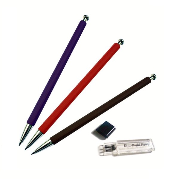 ชุดดินสอกด 2มม. Kitaboshi + กบเหลาไส้ (Kitaboshi 2mm Lead Holder + Sharpener)