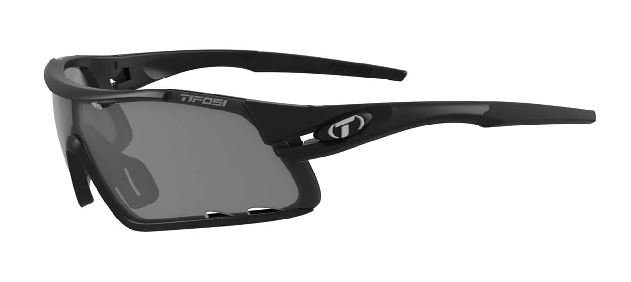 Tifosi DAVOS Matte Black (Smoke/AC Red/Clear)