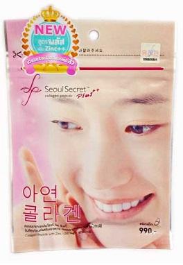 New Seoul Secret Collagen Peptide Plus++ บรรจุ 60 เม็ด เพิ่มซิงค์ช่วยลดการเกิดสิว ผสานประโยชน์จาก Collagen และ Zinc ช่วยเสริมสร้างผิวให้ดูดีขึ้นและซ่อมแซมการสึกหรอช่วย ลด ความหมองคล้ำ ผิวขาวกระจ่างใสขึ้น ริ้วรอยลดลง ร่องลึกผิวตื้นขึ้น