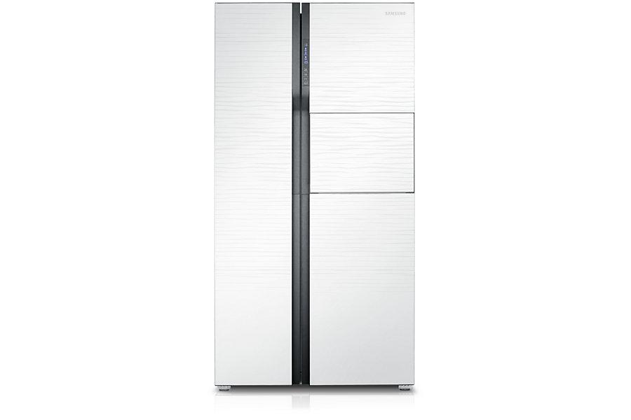 Samsung ตู้เย็น Side by Side Superstar SBS ความจุ 585.5 ลิตร/20.7 คิว รุ่น RS554NRUA1J/ST