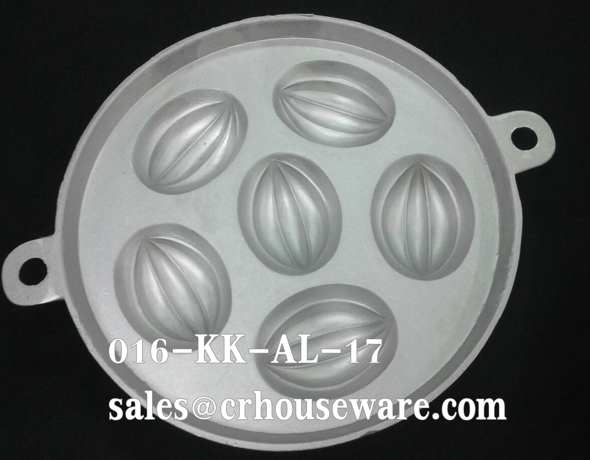 พิมพ์ขนมไข่อะลูมิเนียม เล็ก ขนาด 7 นิ้ว 016-KK-AL17 Khanom Khai mold aluminum 7 inch Carambola. 016-KK-AL17 อุปกรณ์ทำขนม