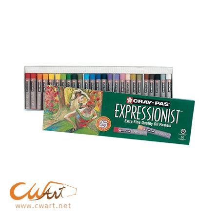 สีชอล์คน้ำมันSakura Expressionist 25สี