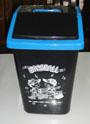 ถังขยะฝาแกว่งขนาดเล็ก 5 ลิตร สีดำขอบสีต่างๆ 001-BIN-554