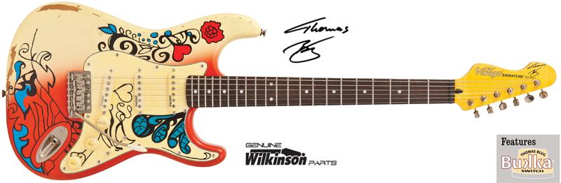กีต้าร์ไฟฟ้า VINTAGE #V6MRHDXICON Summer of Love Hendrix