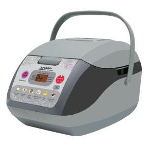 Sharp หม้อหุงข้าว ดิจิตอล 1 ลิตร รุ่น KS-COM10 สีเทา