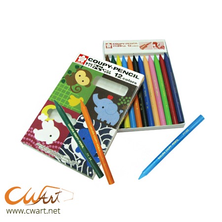 ชุดดินสอสี Sakura Coupy-pencil 12สี (Sakura Coupy-Pencil Set of 12)