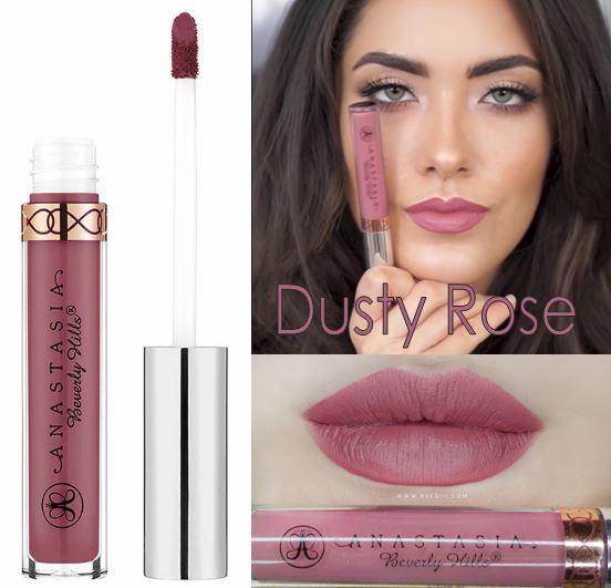 Anastasia Beverly Hills Liquid Lipstick สี Dusty Rose ลิปเนื้อแมทสีสวย เนื้อครีมแมทสุดยอด Full Coverage พิกเม้นต์ดี กลบสีปากได้ดี เนื้อครีมทาง่าย ทาเพียงครั้งเดียวก็ติดทนไปตลอดทั้งวัน