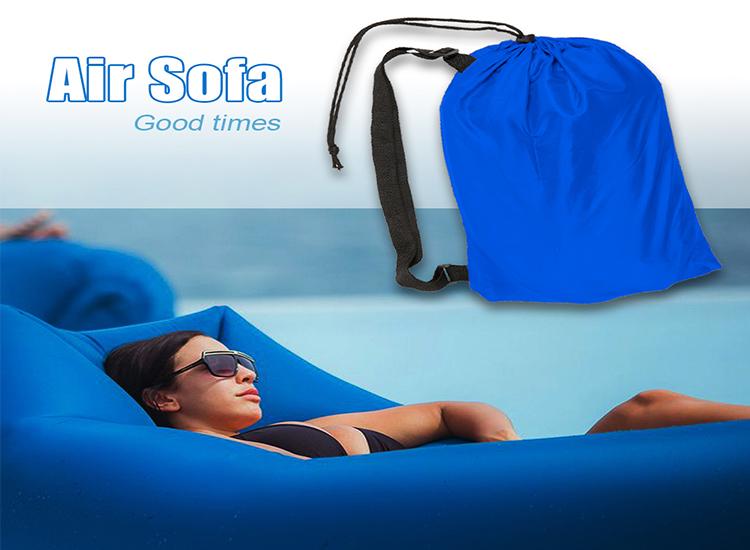 โซฟา-ที่นอนเป่าลม สำหรับท่องเที่ยว (ใช้เหวี่ยงไปมารับลมเข้า ไม่ต้องสูบ)