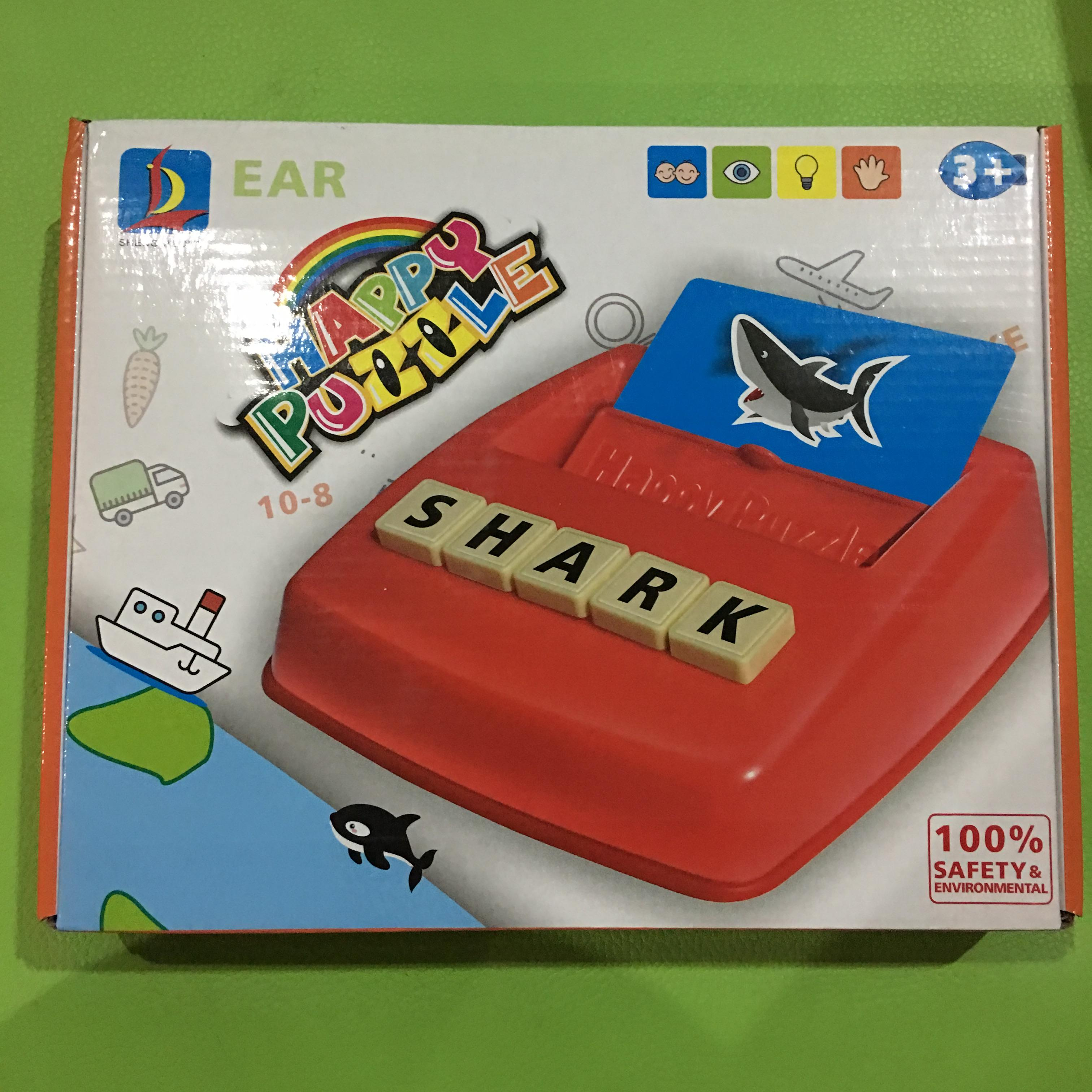 Happy Puzzle แท่นเรียงคำศัพท์ภาษาอังกฤษ พร้อมการ์ดรูปภาพ