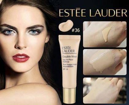 Estee Lauder Double Wear Stay-in-Place Makeup SPF10 ขนาดทดลอง 7ml. สี 2W1 Sand 36 รองพื้นเอสเต้ที่ขายดีที่สุด เนื้อกึ่งแมท ติดทนนาน กันน้ำ กันเหงื่อ เนื้อเนียนบางเบาเป็นธรรมชาติ สีไม่เปลี่ยนตลอดวัน รองพื้นที่ได้รับความนิยมสูงสุดของเอสเต้