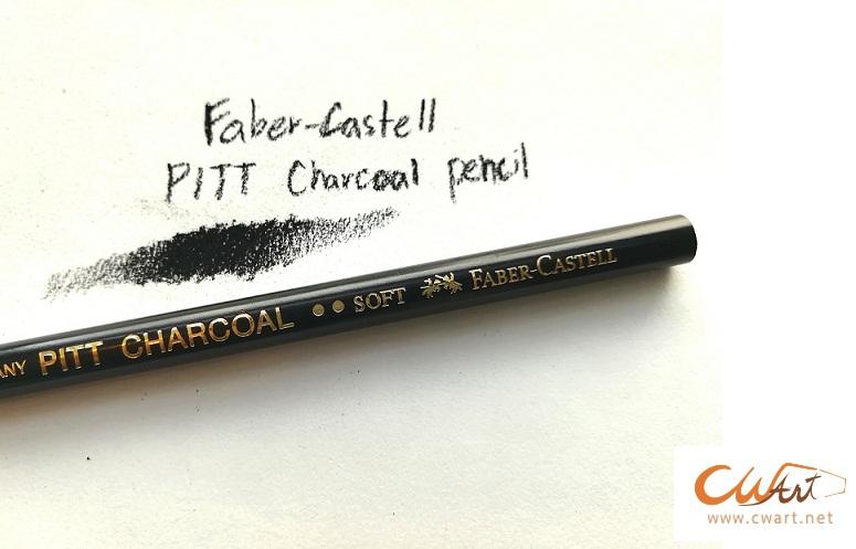 """ดินสอ FaberCastell Pitt Charcoal """"Soft"""" ดำเข้ม"""