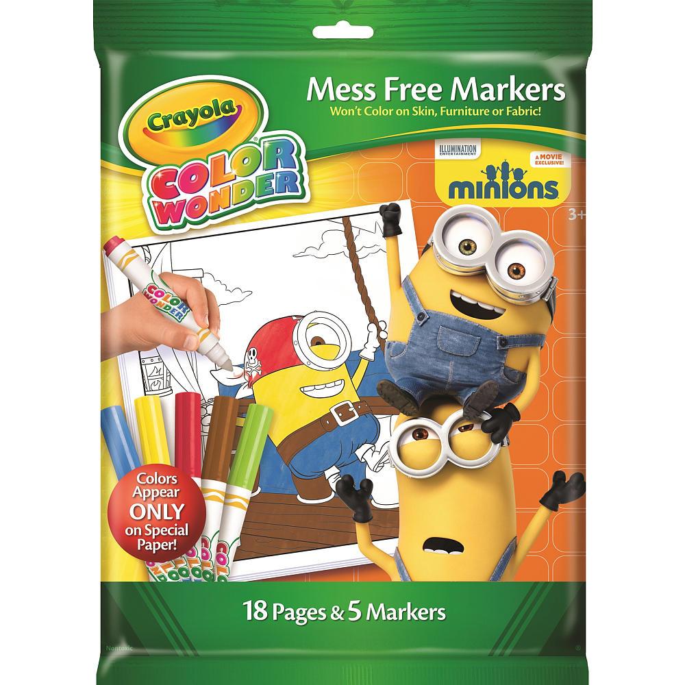 Crayola Colour Wonder Minions สมุดระบายสี ลายมินเนี่ยน