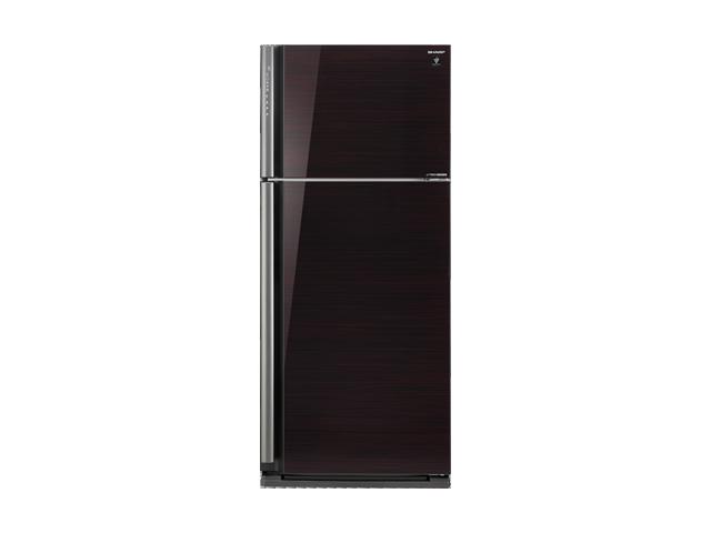 Sharp ตู้เย็น 2 ประตูความจุ 20.7 คิว ประตูกระจก J-TECH INVETER รุ่น SJ-X58GP-BK สีดำ